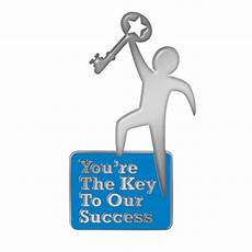 the key to being a you re the key to our success lapel pin with card
