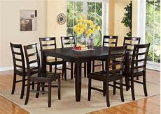 dining room table with 8 chairs 9pc dinette dining room set table 8 plain wood seat chairs in cappuccino ebay