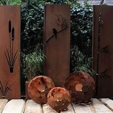 Gartendekoration Kugel Leuchte Rost D 40cm Outdoor