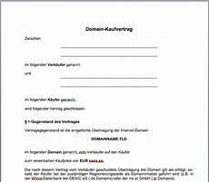 Domain Kaufvertrag Mustervorlage Gfrerer