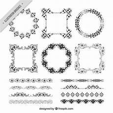 cornici illustrator disegnati a mano cornici decorative e bordi scaricare