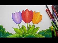 Cara Menggambar Dengan Gradasi Tema Bunga