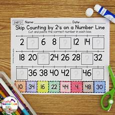 skip counting number line for multiplication worksheets 11962 skip counting on a number line by 2 s worksheets by gameroom
