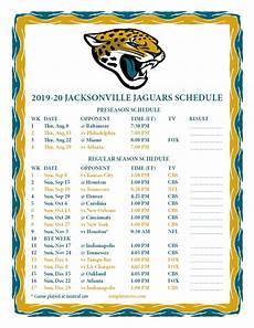 printable 2019 2020 jacksonville jaguars schedule