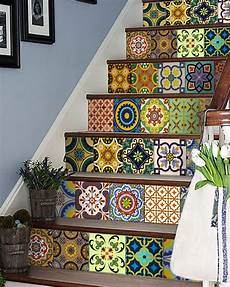 home decor decals 24 set mexican stairs tile stickers wall decals home decor