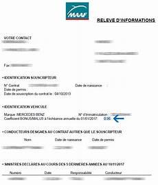 assurance voiture maaf comment obtenir un relev 233 d information assurance auto