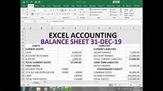 how to make balance sheet in excel hindi youtube