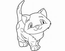 Ausmalbilder Katzen Zum Ausdrucken Kostenlos Kostenlose Malvorlage Katzen Kleine Katze Ausmalen Zum