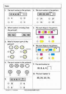 math patterns worksheets for grade 2 385 patterns problem solving studyladder interactive learning