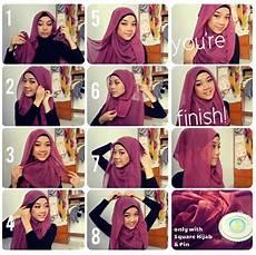 Jilbab In Cara Mudah Memakai Jilbab Segi Empat