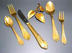 23 24 carat gold plated gold solingen cutlery for 12