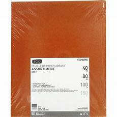 papier de verre silex scid grain 40 80 100 150