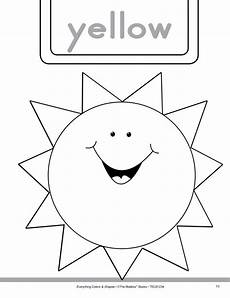 color yellow worksheets for preschool 12892 colors and shapes yellow and triangle worksheet for pre k kindergarten lesson planet