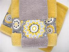 Etsy Yellow And Gray Bathroom by Yellow Grey Gray Bathroom Towels Towels Towel Yellow