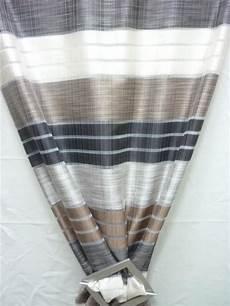 vorhänge braun beige deko stoff gardine vorhang breit gestreift braun beige