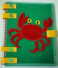 libreta decorada con foamy cangrejo manualidad 120 00 en mercado libre