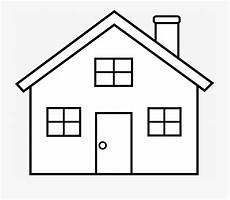 house clipart for printable simple house coloring page
