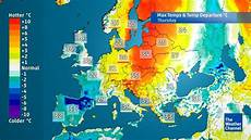 5 present weather and climate europe weather five day temperature forecast the