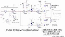 wiring schematic diagram latching relay off switch circuit