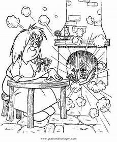 zauberin 14 gratis malvorlage in fantasie zauberer ausmalen
