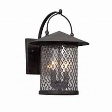 troy lighting altamont 2 light iron outdoor wall lantern sconce b5172 the home depot