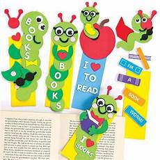 bookworm foam bookmark kits baker ross