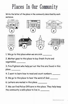 places in my community worksheet places in the community worksheet free esl printable worksheets made by teachers
