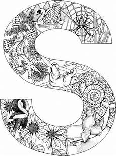 colouring pages for adults of animals letters 17309 letter s with animals coloring page from alphabet with animals category select from
