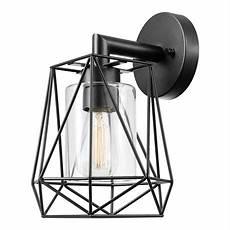 sansa 1 light outdoor indoor wall sconce black clear glass inner shade walmart canada