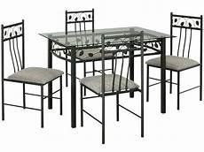 table de cuisine en verre 66245 table rectangulaire en verre et m 233 tal 4 chaises shanga 207 vente de ensemble table et chaise de