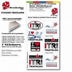 Sticker Triathlon Ironman Autocollant Nominatif