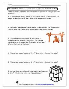 volume word problems worksheets with answers 11170 get the 2d and 3d area volume and surface area fill printable fillable blank