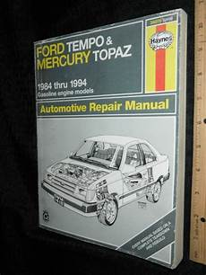 online auto repair manual 1984 mercury topaz engine control purchase haynes ford tempo mercury topaz 1984 94 auto repair manual 36078 1418 motorcycle in