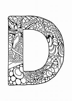 Ausmalbilder Buchstaben D Alphabet Lettre D Coloriages Alphabet Et Lettres