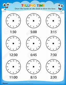 time on the hour worksheets for kindergarten 3611 telling time worksheets for school printable kindergarten free clock homework worksheet time