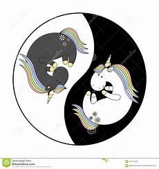 Malvorlagen Yin Yang Unicorn 2018 04 02 Unicorn Yin Yang Stock Illustration