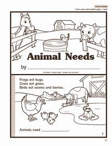 plants and animals worksheets for kindergarten 13507 science booklet animal needs farm animals with images science booklets booklet