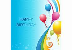 happy birthday card template for word vector birthday template free vector stock