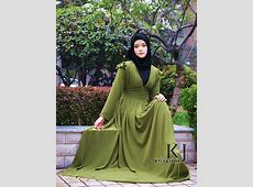 soft thin two layer composite silk abaya dress for muslim
