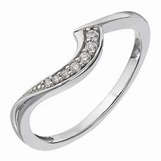 fit 9ct white gold diamond curved wedding band h
