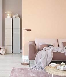 Wandfarben Brauntöne Wohnzimmer - wohnen mit farbe pastell als wandfarbe mit farbigen