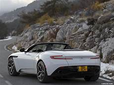 2018 aston martin db11 volante v8 color lunar white rear three quarter hd wallpaper 48