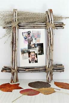 bilderrahmen selber basteln diy rustic photo frame favecrafts