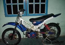 Modifikasi Motor Trail Bebek Standar by Trenzmodif Modifikasi Motor