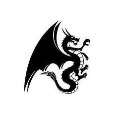 Drachen Schwarz Weiß - schwarzweiss drache vektor abbildung bild 39474403