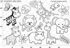 jungle friends digital sts clipart etsy in 2020