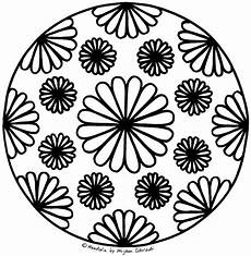 Malvorlage Blumen Mandala Mandala Blume Zum Ausdrucken Free Printable Flower Mandala