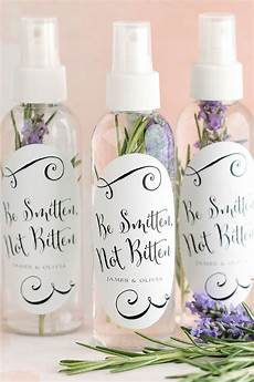 diy bug spray wedding favors summer weddings