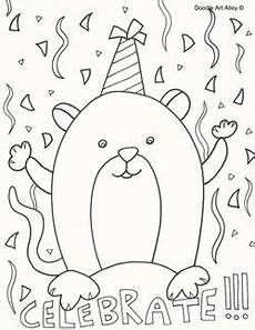 celebrate coloring page birthday coloring pages mandala