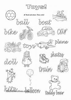 worksheets colors and toys 12707 25 best toys playtime activities images on vocabulary worksheets the house and